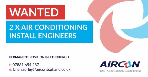 Air Conditioning Installation Engineer x 2 Required